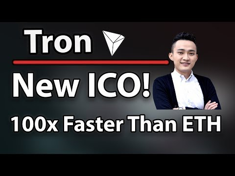 Tron (TRX) New ICO On Tron Network! 100x Faster Than Ethereum & Technical Analysis!