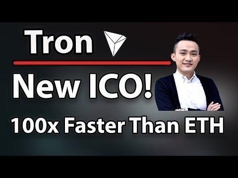 Tron (TRX) New ICO On Tron Network! 100x Faster Than Ethereum & Technical Analysis!