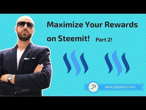 Maximize Your Rewards on Steemit Part 2!