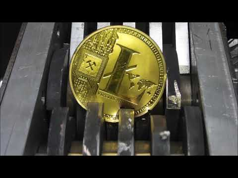 Shredding bitcoin, ethereum, litecoin, mining cryptocurrency.