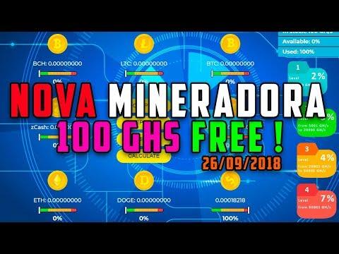 SAIU ! Nova Mineradora 100 GHS FREE + Sorteio 1500 Dogecoin !