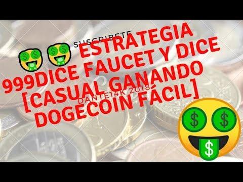 🤑🤑 ESTRATEGIA  999DICE FAUCET Y DICE [CASUAL 😎😎 GANANDO DOGECOIN FÁCIL]