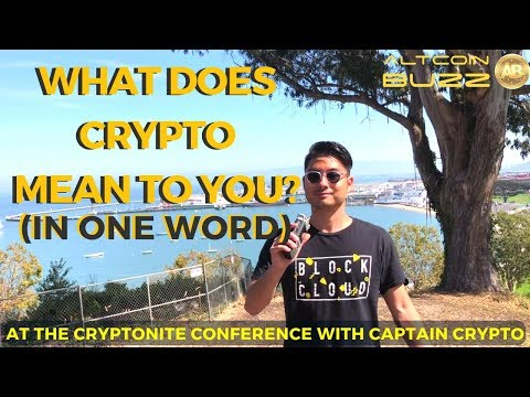 What does Cryptocurrency mean to you in One Word? with Capt. Crypto!