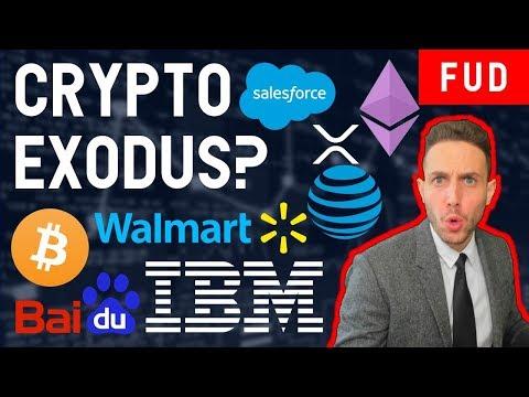 BLOCKCHAIN EXODUS? ONLY BUY BITCOIN? SALESFORCE BAIDU IBM WALMART AT&T XRP BITMAIN ETHEREUM
