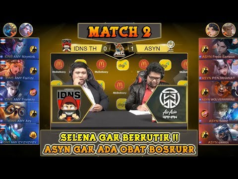 Fredo Sameon Gak Ada Obat Bosskurr !! ASYN VS IDNS TH Match 2 !! | MEC Mobile Legends ShowDown