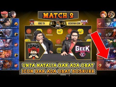 Unta Natalia Gak Ada Obat Bosskur !! ICON VS IDNS TH Match 2 !! | MEC Mobile Legends ShowDown
