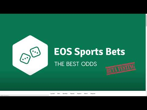 EosSportsBets.io – The Best ODDS – Bet with ESB on EOS!