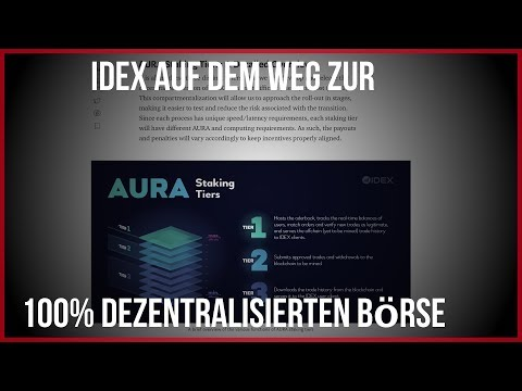 IDEX auf dem Weg zum dezentralisierten Exchange | 100% Ausschüttung der Tradingegbühren