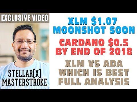 Stellar Masterstroke StellarX. XLM $1 MOONSHOT soon. CARDANO ADA $0.5? XLM VS ADA Price Analysis