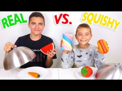 REAL FOOD VS SQUISHY FOOD CHALLENGE ! – Vraie nourriture ou Squishies ?