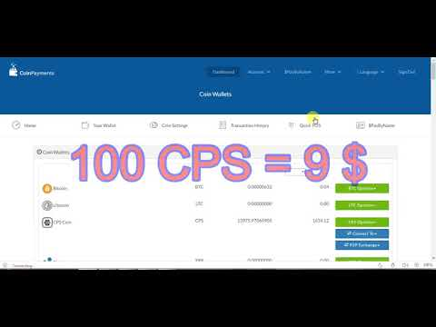 OMG!!!!BUY CPS COIN NOW…100 CPS COIN = 9 $…OFFER TILL 10 OCT..BUY FAST..