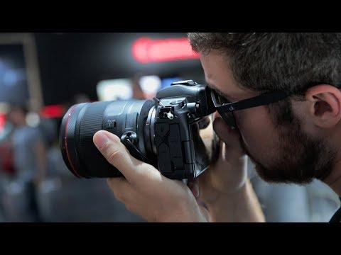 Canon EOS R FF Mirrorless! 50f1.2 & 35f1.8 IS | Photokina 2018