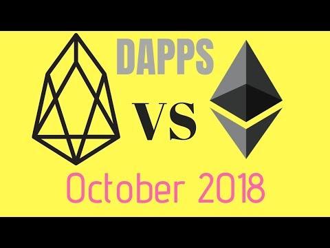 EOS DAPPS vs ETH DAPPs October 2018