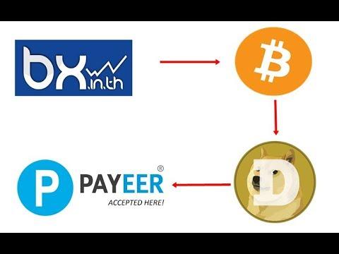 เติมเงินบาทเข้า BX แล้ว แปลงเป็น Doge Coin เป็น USD เข้า Payeer