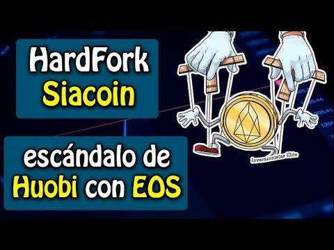 escándalo de huobi con EOS, hardfork en SIA y criptomonedas baratas