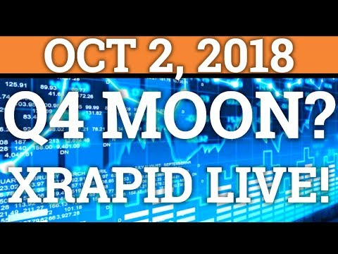 WILL CRYPTOCURRENCY MOON IN Q4? RIPPLE XRP XRAPID IS LIVE! BITCOIN NEO PRICE, NEWS, DAY TRADING 2018