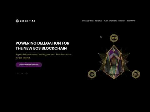 Chintai launched – Lease your EOS tokens