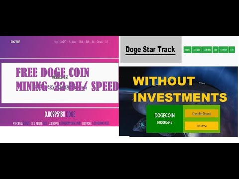 new  2 dogecoin mining 2018 without investments