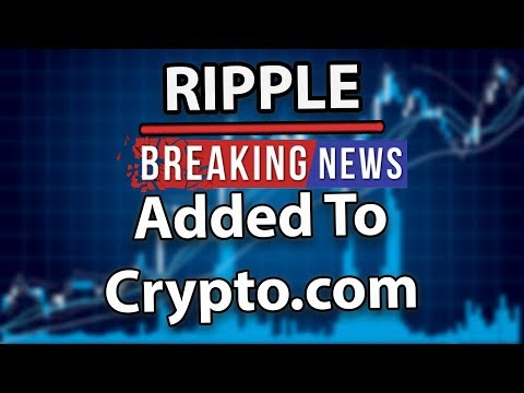 Breaking News Ripple (XRP) Added to Crypto.com's Wallet & Card App!