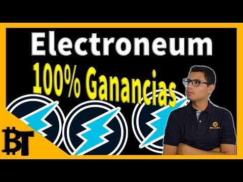 Electroneum dando 100% de Ganancias