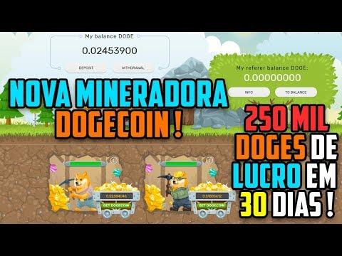 Nova mineradora Dogecoin na área | Até 250000  Dogecoins de lucro por mês !