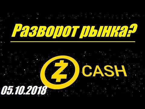Криптовалюта ZEC/USD – Разворот? /05.10.2018