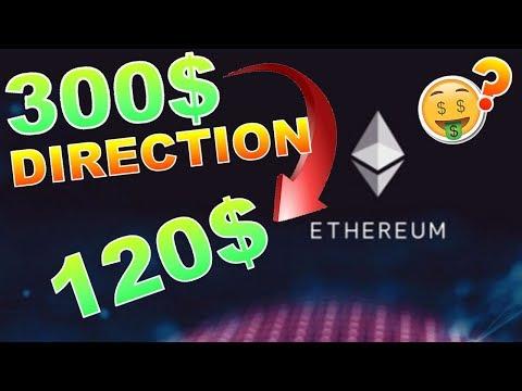 ETHEREUM 300$ PUIS BAISSE AUX 120$ !!!??? ETH analyse technique crypto monnaie BITCOIN