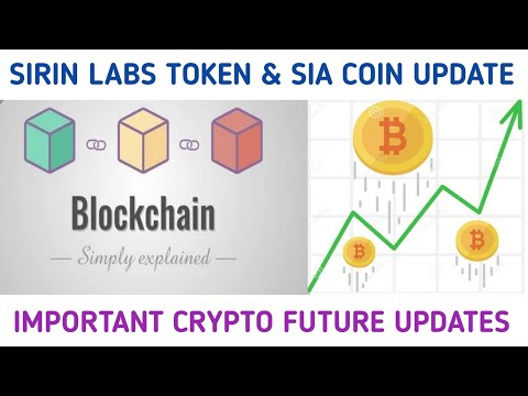 SIRIN LABS TOKEN & SIA COIN UPDATE | IMPORTANT CRYPTO FUTURE UPDATE CRYPTO24