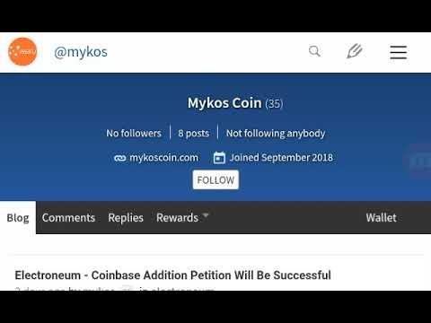 Mykos Coin Joins Weku – Steemit Alternative