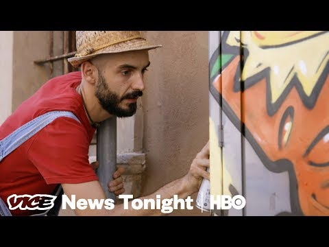 The Italian Street Artist Using Cheese Paintings To Fight Neo-Fascism (HBO)
