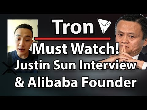 MUST WATCH! Tron (TRX) Interview With Justin Sun, About Future of TRX and XRP & Alibaba Talks!