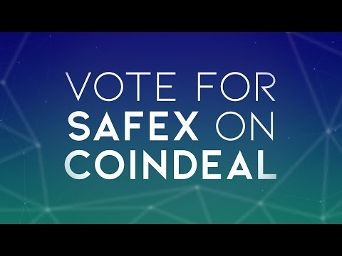 Vote for Safex to be listed on CoinDeal