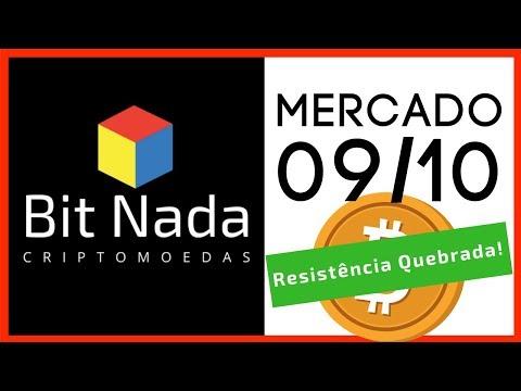 Mercado de Cripto! 09/10 Bitcoin quebra resistência importante! EOS / XVG / BNB