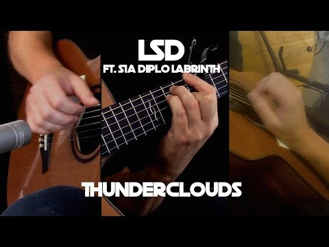 Kelly Valleau – Thunderclouds (LSD ft. Sia, Diplo, Labrinth)  Fingerstyle Guitar