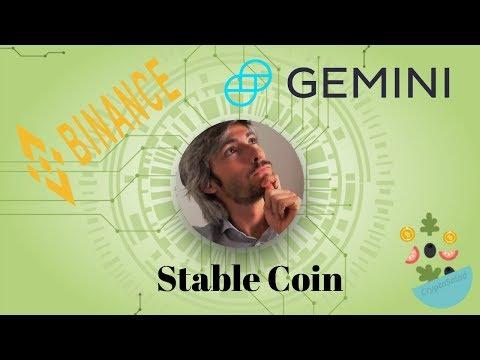 Lo Strapotere di Binance + Gemini Stable Coin