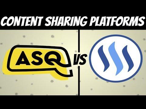 ASQ Protocol vs Steemit Platform (For Content Creators)