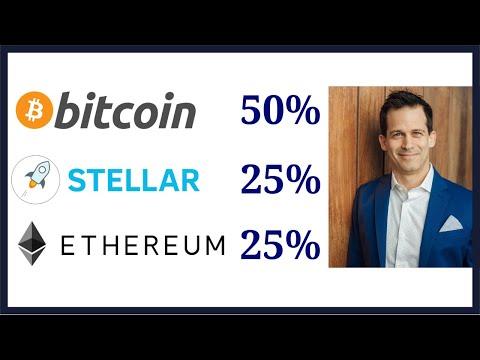 50% Bitcoin (BTC) 25% Ethereum (Ether ETH) 25% Stellar (Lumens XLM): Dream Cryptocurrency Portfolio