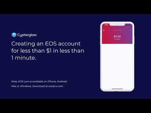Creat an EOS Account for less than $1 in less than 1 minute!