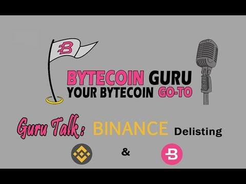 GuruTalk- What is happening with Bytecoin and Binance?