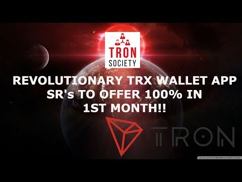 TRON SOCIETY UP AND COMING SUPER REP WITH HUGE POTENTIAL! TRX MOBILE WALLET NOW AVAILABLE!