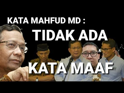 Mahfud: Tidak Ada Kata Maaf, Seret Amien Dan Prabowo Ke Polisi, Meski KPK Senjata Mereka