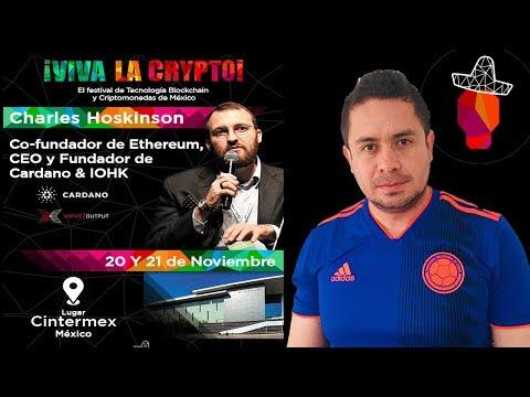 Cofundador de #Ethereum y #Cardano en VIVA LA CRYPTO #MÉXICO