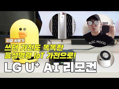 쓰던 가전도 음성명령 IoT 가전으로 만들어주는, LG U+ AI 리모컨 후기! [4K]