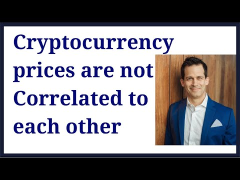 Cryptocurrency prices are not correlated to bitcoin nor each other
