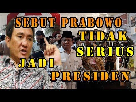Sebut Prabowo Tidak Serius Jadi Presiden; Andi Jangan  Bodoh, Tidak Ada yang Serius Mendukung!!