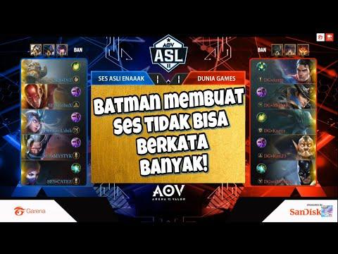 ADA APA DENGAN SES?? SES vs DG Game 3 Asl week 5 2018. Garena AOV Indonesia