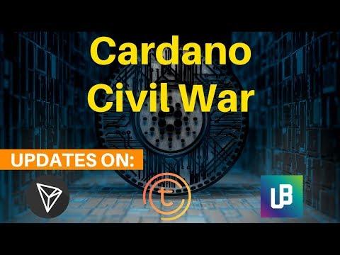Cardano ADA Civil War, TRON Hype, Unibright UBT + TOMOchain  – Today's Crypto News