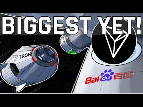 The Biggest Tron TRX Partnership Yet! Tron TRX Moon Shot?