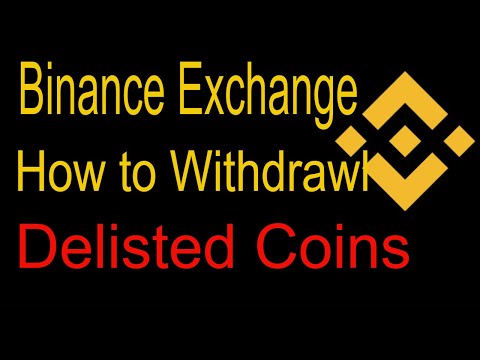 Binance Exchange ! Delisted Coins How To Withdrawl in Hindi?