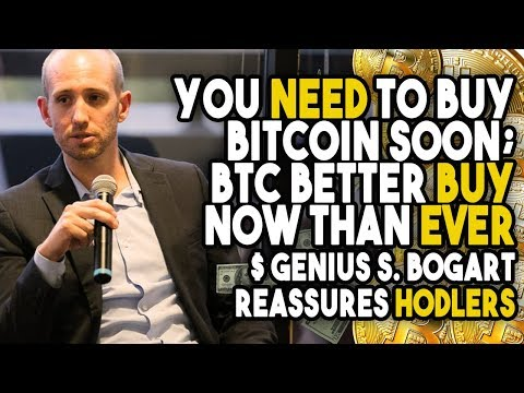 """You NEED To Buy Bitcoin Soon; BTC Better BUY Now Than EVER"" – $ Genius S. Bogart Reassures HODLERS"